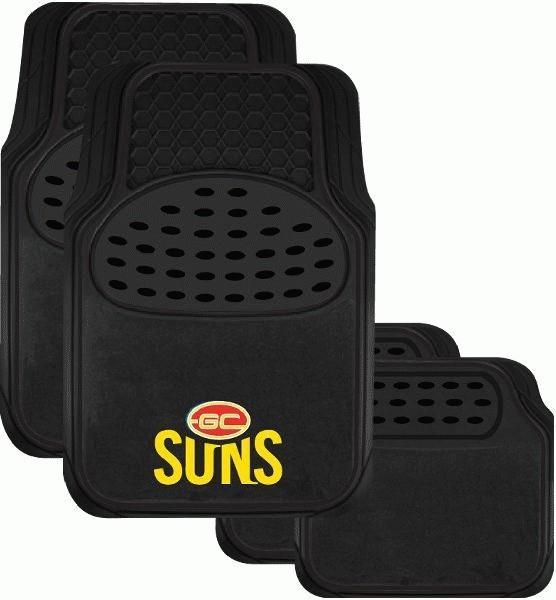 Image of AFL Floormats Gold Coast Suns Set Of 4