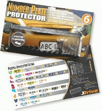 Image of Perspex Number Plate Frame 6 Figure Slim Line Nsw Front NP635