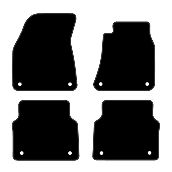 Image of Floor Mats Audi A8 2009-Current Custom Front & Rear [Colour: Charcoal]