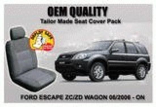 Image of Custom Made Car Seat Covers Ford Escape ZC/ ZD Wagon 06/2006-8/2016 Front +Rear