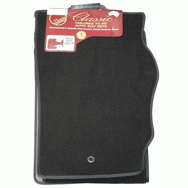 Image of Black - Tailor Made Floor Mats Toyota Hilux Dual Extra Cab 3/2005-2012 Custom Front & Rear