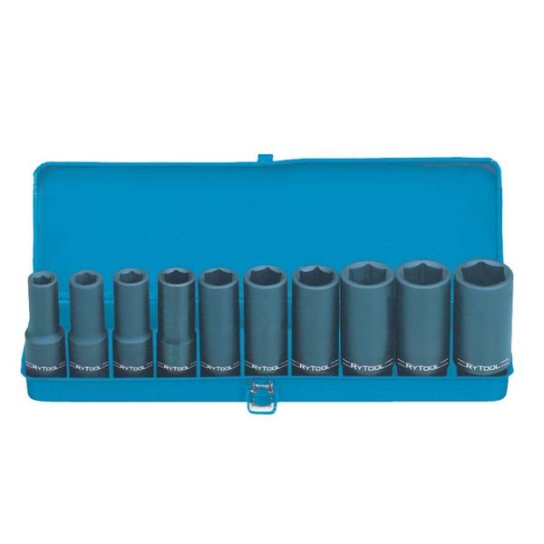 Image of RyTool - 1/2 inch Drive Deep Impact Socket Set AF
