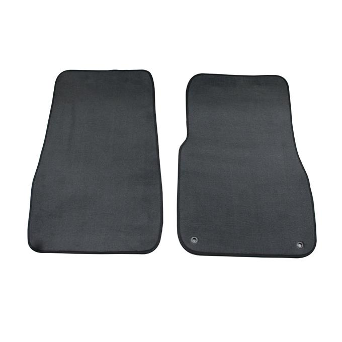 Image of Custom Made Carpet Front Floor Mats Toyota Landcruiser 70 Series 2007- 12/2011 Black TO149-2BL