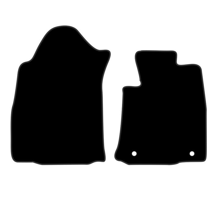 Image of Tailor Made Floor Mats Toyota Hilux 8/2016-On Front Pair [Colour: Black] TPT98012