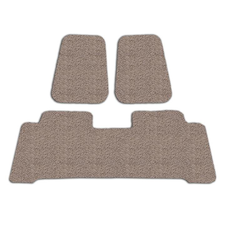 Image of Custom Beige Floor Mats Toyota Kluger 4WD 2014-On Front & Rear Rubber Composite PVC Coil