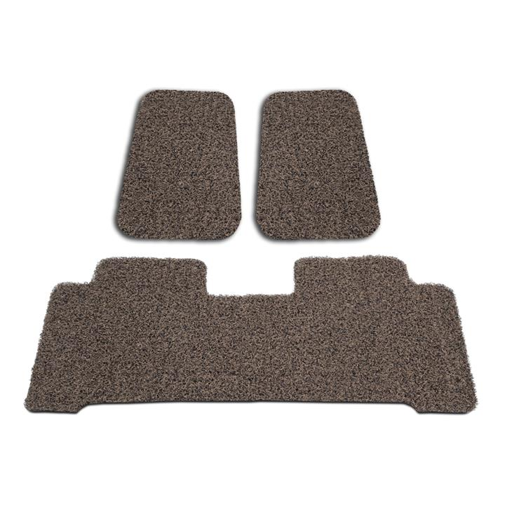 Image of Custom Brown/Beige Floor Mats Toyota Kluger 4WD 2014-On Front & Rear Rubber Composite PVC Coil