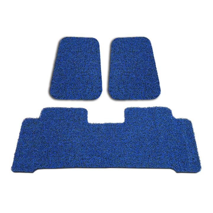 Image of Custom Black/Blue Floor Mats BMW E53 X5 1999-2007 Front & Rear Rubber Composite PVC Coil