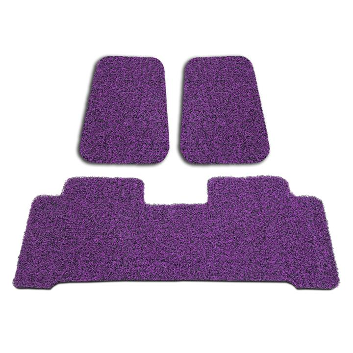 Image of Custom Black/Purple Floor Mats Toyota Camry 2012-On Front & Rear Rubber Composite PVC Coil
