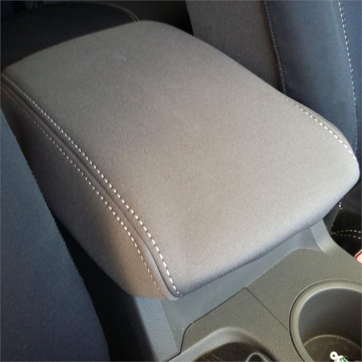 Image of Grey Neoprene Console Cover Ford Ranger PX Dual Cab 7/2011-5/2015