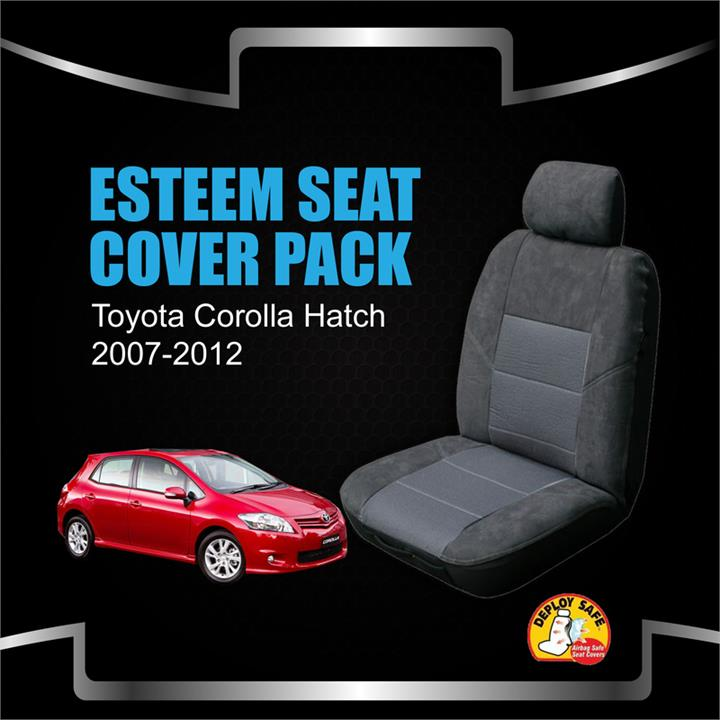 Image of Custom Made Seat Covers Suit Toyota Corolla Hatch Ascent 05/2007-09/2012 Airbag Safe Front & Rear