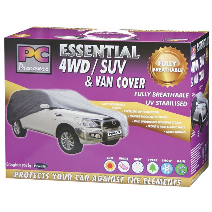 Image of PC Procovers Essential Weatherproof Car Cover Large 4WD PC40110L