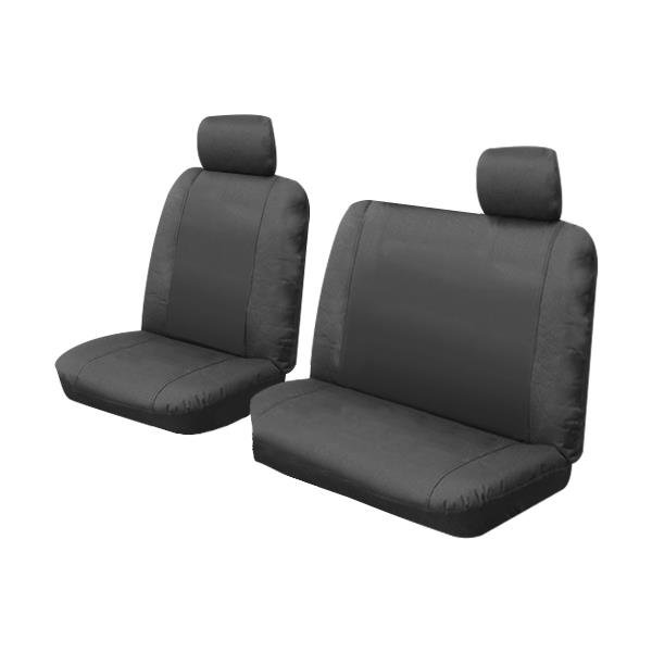 Image of Custom Canvas Seat Covers Ford Ranger PX XL Mazda BT50 BT-50 Single Cab 10/2011-5/2015 Black