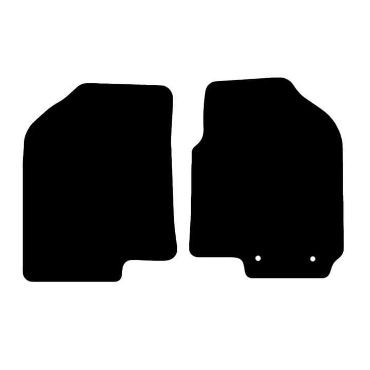 Tailor Made Floor Mats Kia Soul 2008-2014 Front Pair [Colour: Black]
