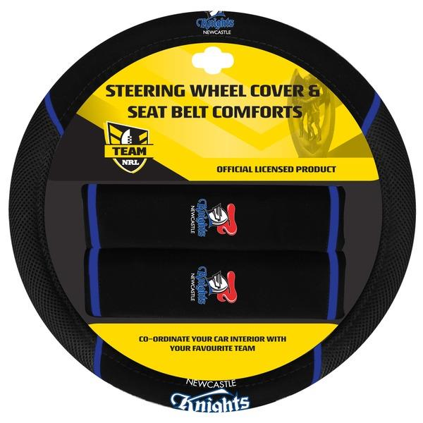 Image of Newcastle Knights NRL Steering Wheel Cover