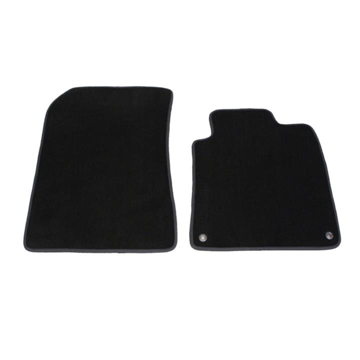 Image of Tailor Made Floor Mats Mitsubishi Evo 10 2008-2016 Front Twin Clutch SST Custom Fit Front Pair [Colour: Black]