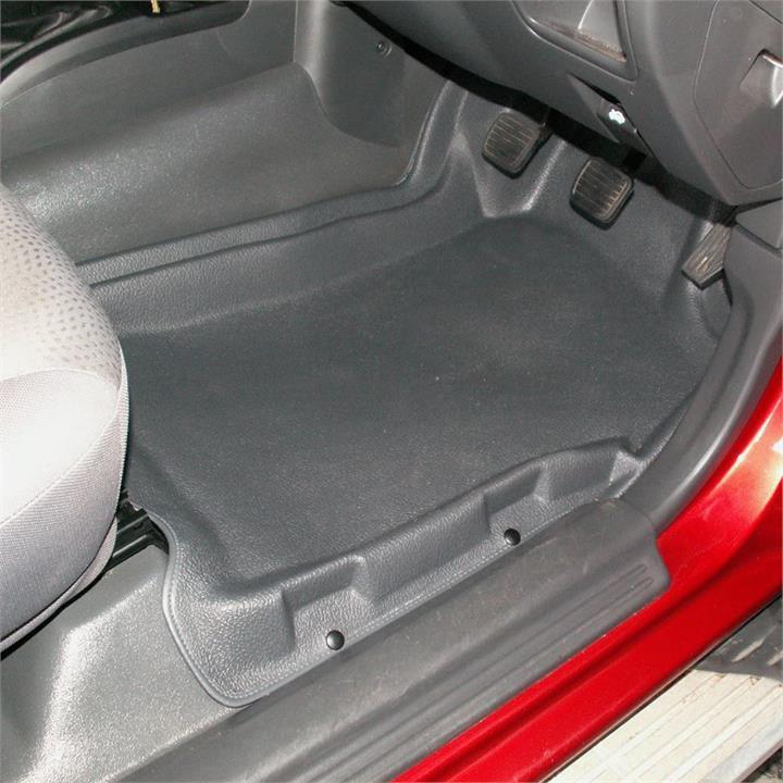 Image of Black - Sandgrabba Rubber Floor Mats Mitsubishi Triton ML/MN 2006-2014 Front & Rear
