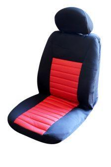 Image of Ice Mesh Front Seat Covers Pair Airbag Safe Size 30 Red