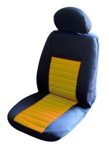 Image of Ice Mesh Front Seat Covers Pair Airbag Safe Size 30 Yellow