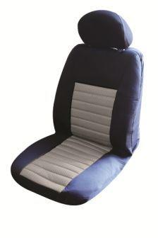 Image of Ice Mesh Front Seat Covers Pair Airbag Safe Size 30 Grey