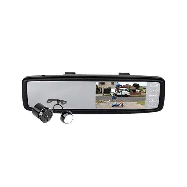 """Image of Reversing Rearview Mirror 4.3"""" & CMOS Camera Kit JS043K"""