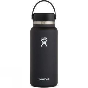 Hydro Flask Wide Mouth 32oz Flask Flex Cap Black