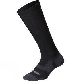 2XU Vector Light Cushion Full Length Socks Black/Titanium