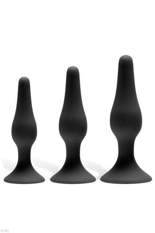 GreyGasms Silicone 3 Piece Anal Trainer Kit