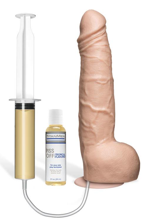 """Doc Johnson 10"""" Pissing Dong with Suction Cup (Vac-U-Lock harness compatible)"""