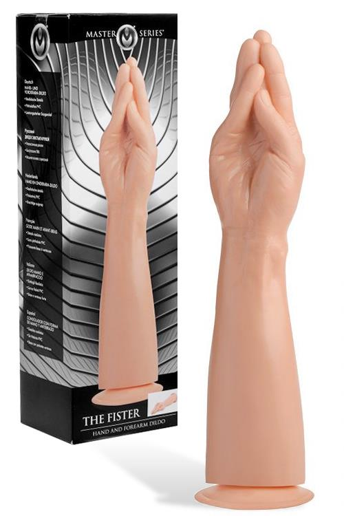 "Master Series 15"" Realistic Hand & Forearm Dildo with Suction Cup Base"