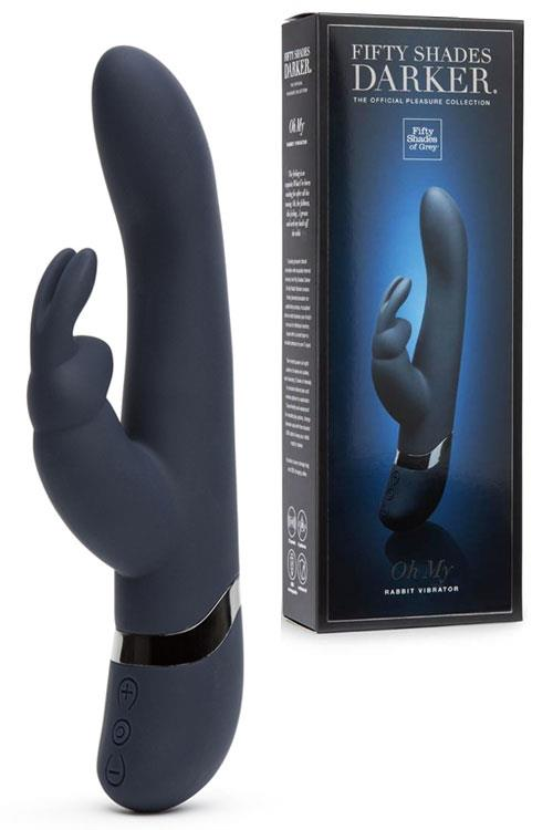 "Fifty Shades Darker 10"" Oh My Rechargeable Rabbit Vibrator"