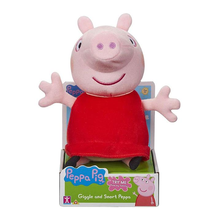 Toys : Peppa Pig Giggle and Snort Peppa Plush Doll