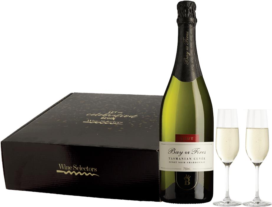Image of Bay of Fires Sparkling plus Flutes Gift Pack