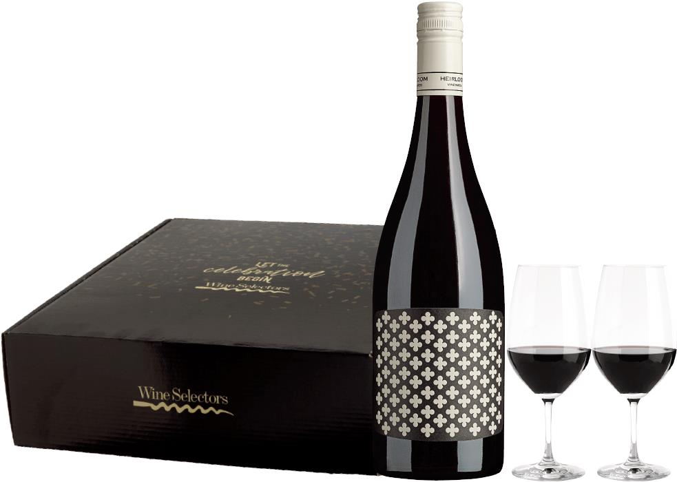 Image of Top Shelf Red with Glasses Gift Pack