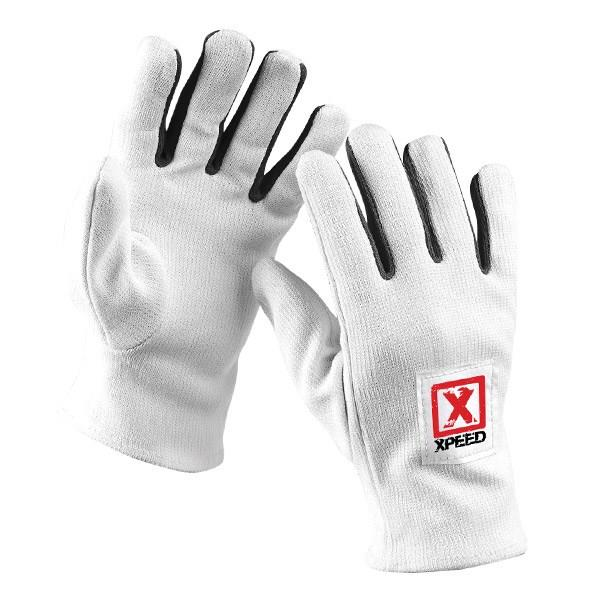 Xpeed Cotton/Lycra Inner Gloves - White
