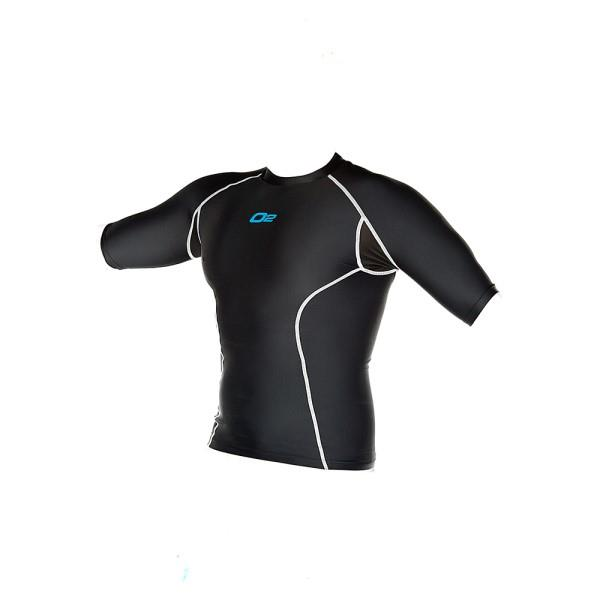 o2fit Mens Compression Short Sleeve Top - Black