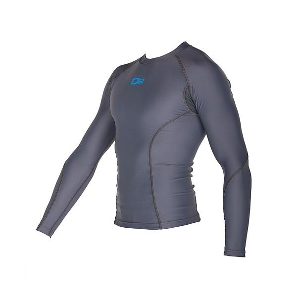 o2fit Mens Compression Long Sleeve Top - Grey