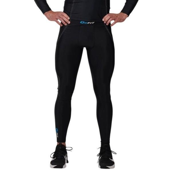 o2fit Mens Compression Pants - Black/White