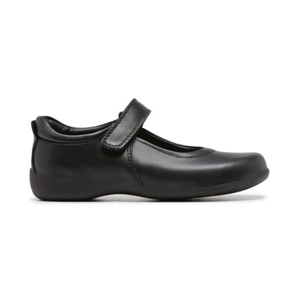 Clarks Elise Girls School Shoes - Black