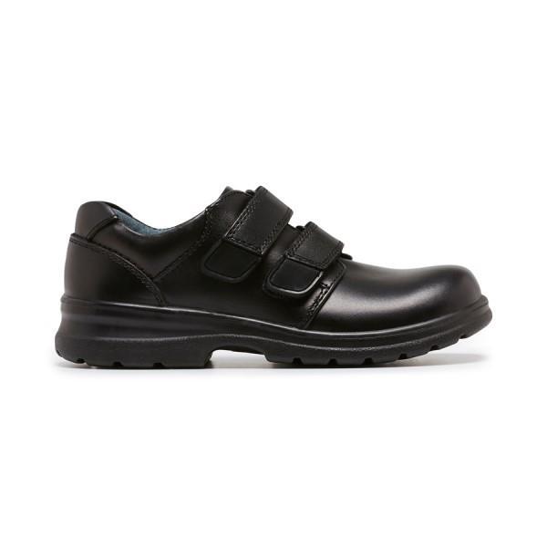 Clarks Lochie Boys School Shoes - Black