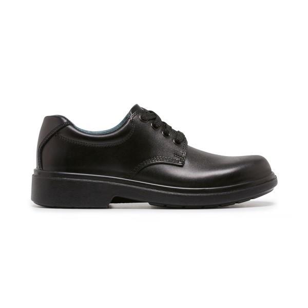 Clarks Daytona Youth School Shoes - Black