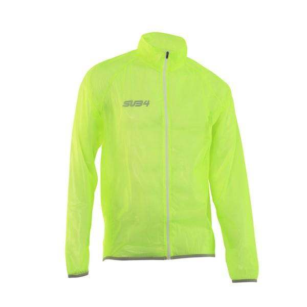 SUB4 Action Unisex Running/Cycling Rain Jacket - Fluoro