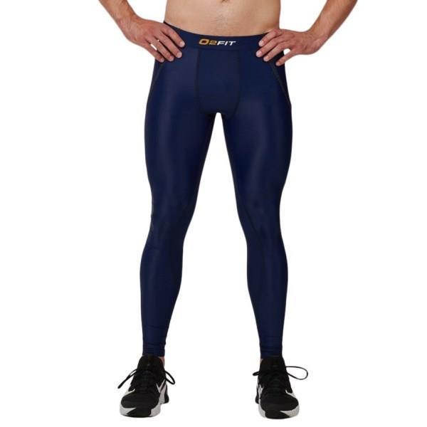 o2fit Mens Compression Pants - Navy