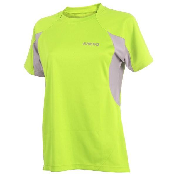Proviz Active Hi-Vis Womens Running T-Shirt - Yellow/Grey