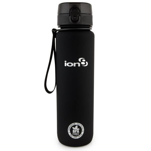 Ion8 Quench BPA Free Water Bottle - 1000ml - Solid Carbon