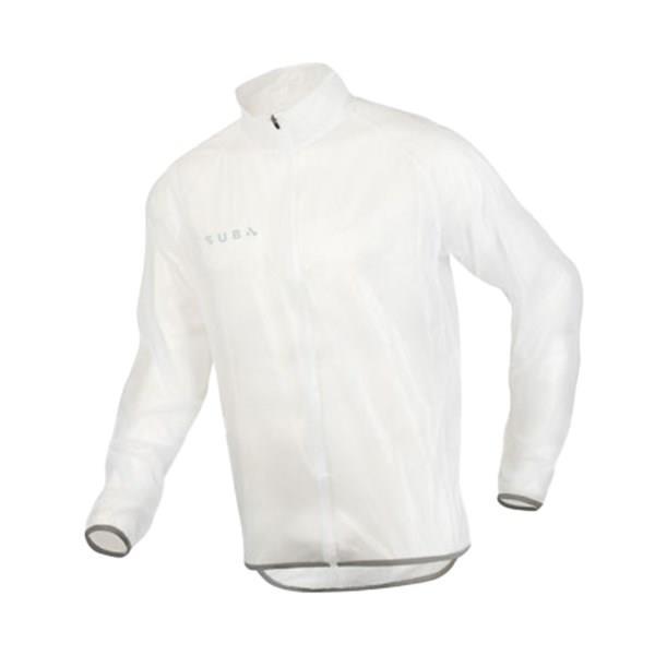 SUB4 Action Mens Run/Cycle Rain Jacket - Clear