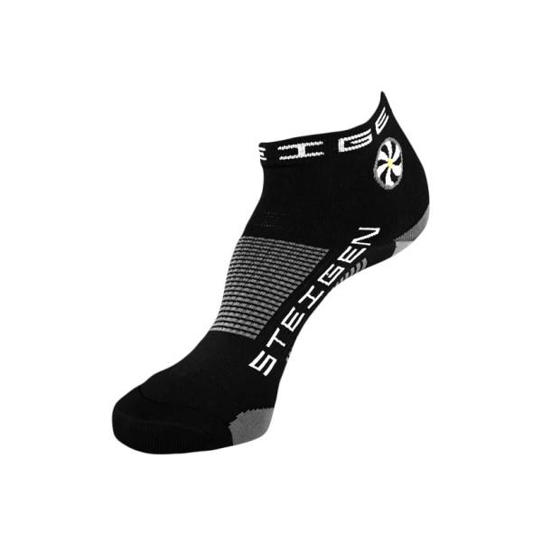 Steigen Quarter Length Running Socks - Black/White