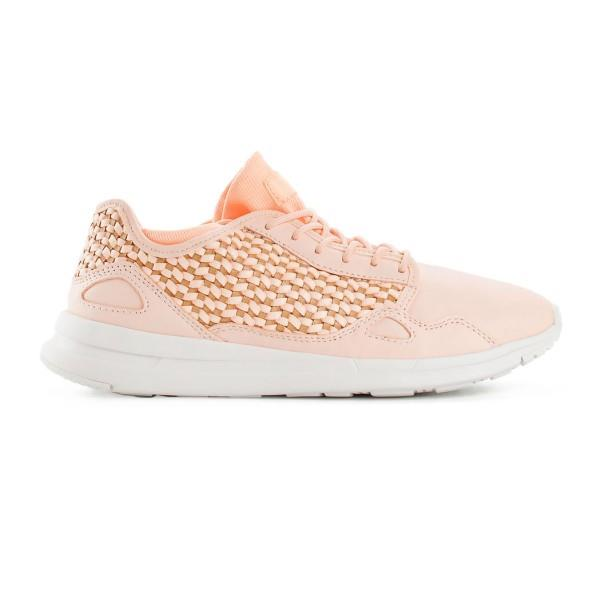 Le Coq Sportif LCS R Flow Woven - Womens Sneakers - Peach Puree/Tan