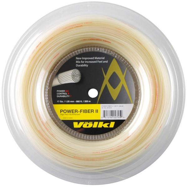 Volkl Power Fiber II Tennis Reel 200m - Natural