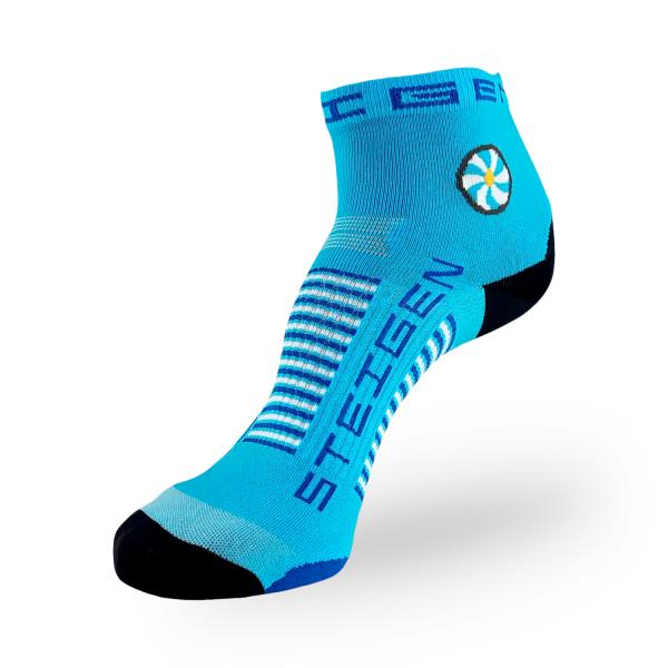 Steigen Quarter Length Running Socks - Breezy Blue