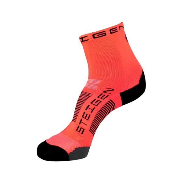 Steigen Half Length Running Socks - Fluro Red